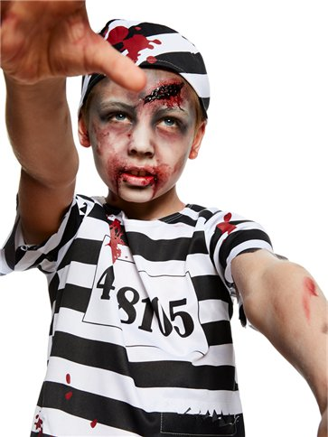 Zombie Convict Boy - Child Costume back