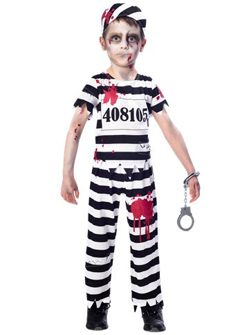 Zombie Convict Boy - Child Costume front