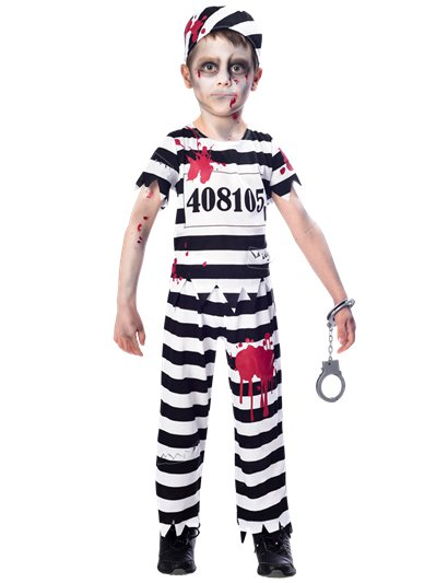 Zombie Convict Boy - Child Costume
