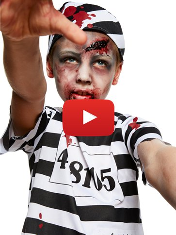 Zombie Convict Boy - Child Costume video