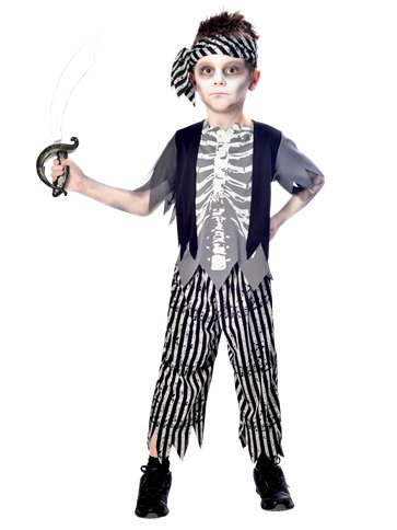 Zombie Pirate Boy - Child Costume front
