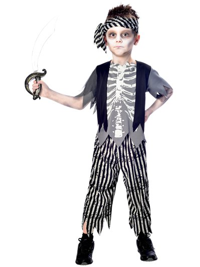 Zombie Pirate Boy - Child Costume