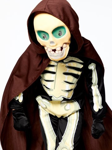 Skeleton Grim Reaper - Child Costume back