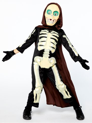 Skeleton Grim Reaper - Child Costume front
