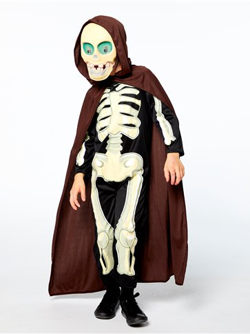 Skeleton Grim Reaper - Child Costume pla