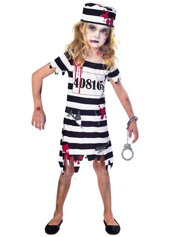 Zombie Convict Girl - Child Costume front