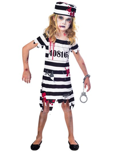 Zombie Convict Girl - Child Costume
