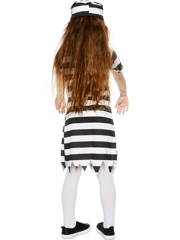 Zombie Convict Girl Child Costume Party Delights