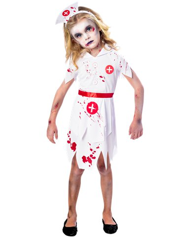 Zombie Nurse Girl - Child Costume | Party Delights