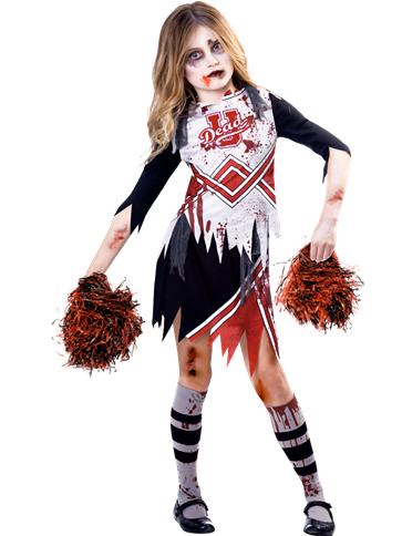 Zombie Cheerleader Girl Child Costume Party Delights