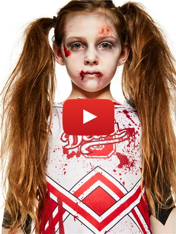 Zombie Cheerleader Girl - Child Costume video