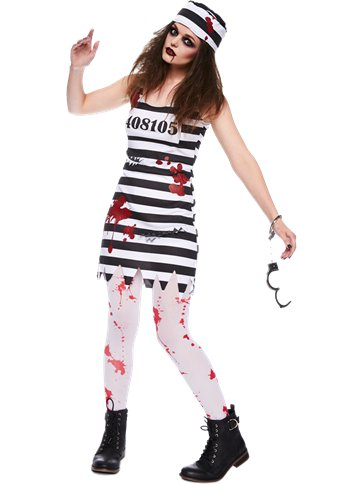 Zombie Convict - Adult Costume front