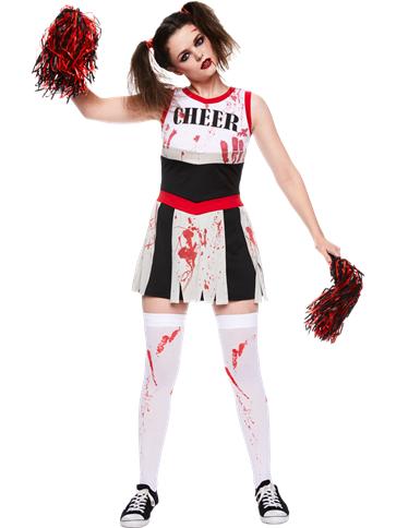 zombie cheerleader adult costume party delights. Black Bedroom Furniture Sets. Home Design Ideas
