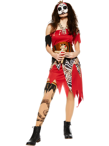 Witch Doctor Lady - Adult Costume | Party Delights