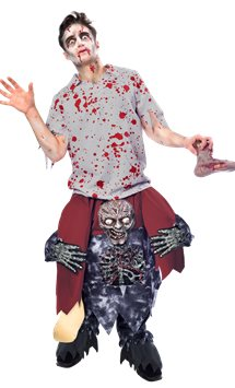 Piggy Back Zombie - Adult Costume