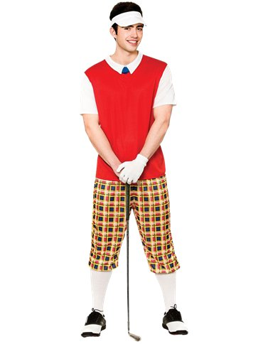 Funny Pub Golfer - Adult Costume front