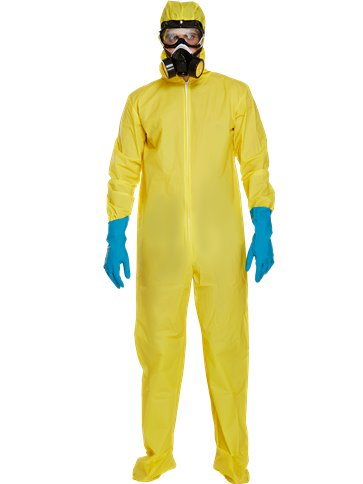 Yellow Protective Suit - Adult Costume front
