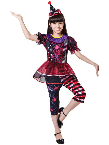 Halloween Clown Girl - Child Costume front