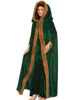 Green Fur Trimmed Cape