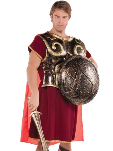 Spartan Warrior Chest Plate - Adult Costume front