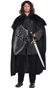 Furry Black Cloak - Adult Costume