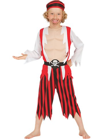 Pirate Skull - Child Costume front