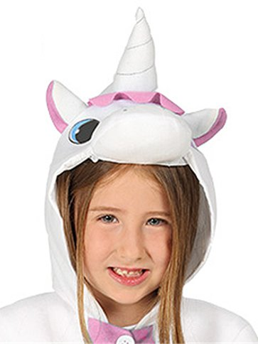 Unicorn Pink Onesie - Child Costume back