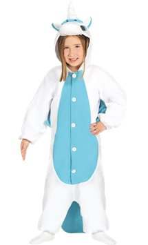 Unicorn Blue Onesie - Child Costume
