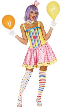 Clown Lady - Adult Costume
