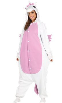 Pink Unicorn Onesie - Adult Costume