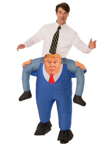 President Piggy Back - Adult Costume front