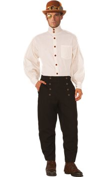Steampunk Beige Shirt - Adult Costume