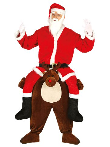Piggy Back Reindeer - Adult Costume front