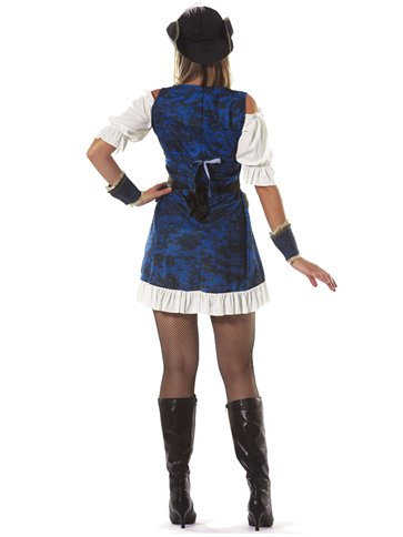 Luxury Pirate Captain - Adult Costume back