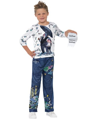 David Walliams Billionaire Boy - Child Costume front