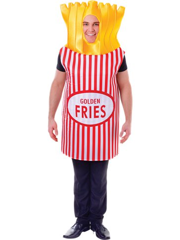 French Fries - Adult Costume front