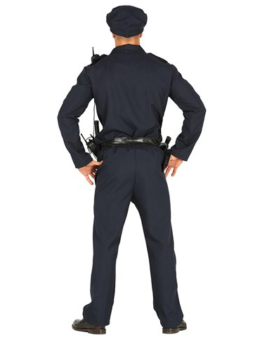 Policeman - Adult Costume back