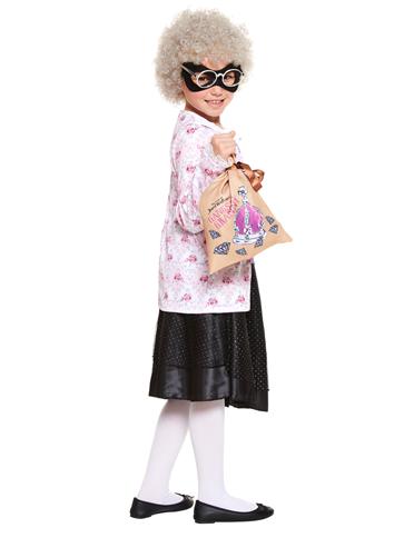 David Walliams Gangsta Granny With Wig Child Costume