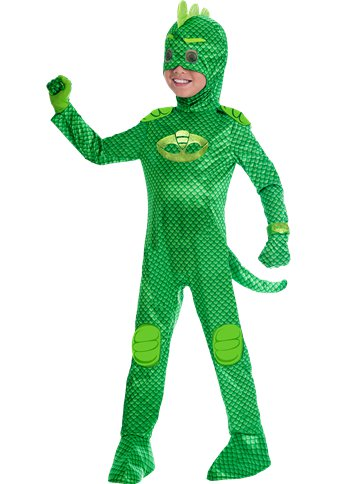 PJ Masks Gekko Deluxe - Child Costume front