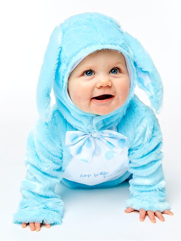Little Wabbit Blue - Baby & Toddler Costume back