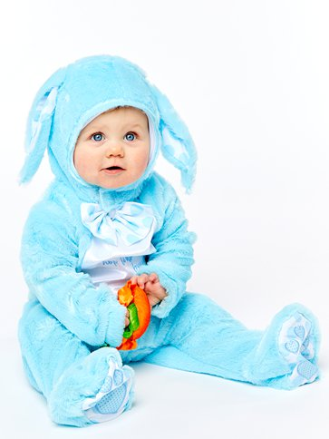 Little Wabbit Blue - Baby & Toddler Costume left