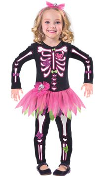 Fancy Bones Skeleton - Toddler & Child Costume