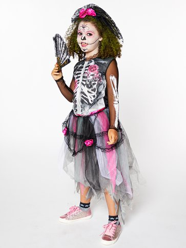 Day of the Dead - Child Costume back