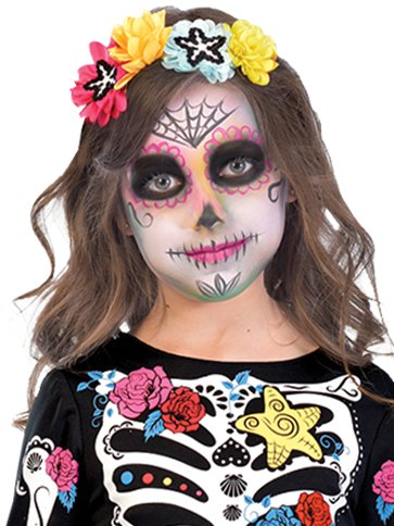2a8603f450f Day of the Dead Mermaid - Child Costume | Party Delights