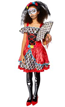 Sugar Skull Senorita - Child and Teen Costume