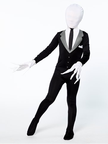 Slender Man Party Suit - Child Costume back