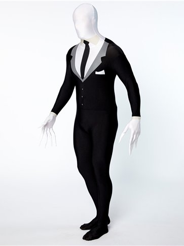 Slender Man Party Suit - Adult Costume back