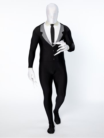 Slender Man Party Suit Adult Costume Party Delights