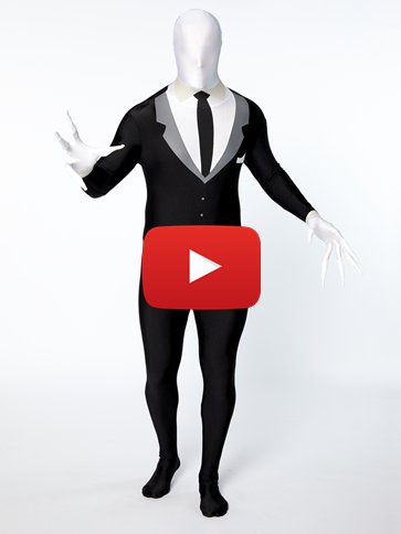Slender Man Party Suit - Adult Costume video