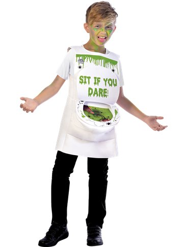 Slimy Toilet - Child Costume front